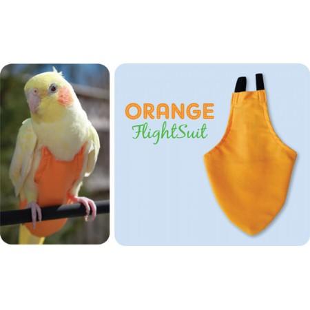 Flightsuit papegaaienluier X-Small Oranje | Met handige klittenbandsluiting