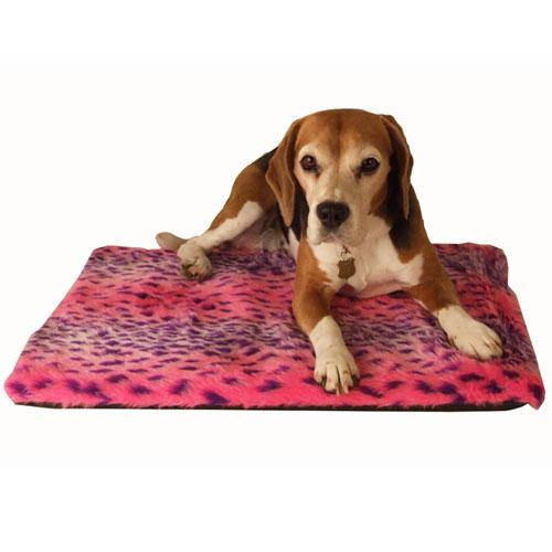 Hondenkussen Luipaard roze | Warm en knuffelig