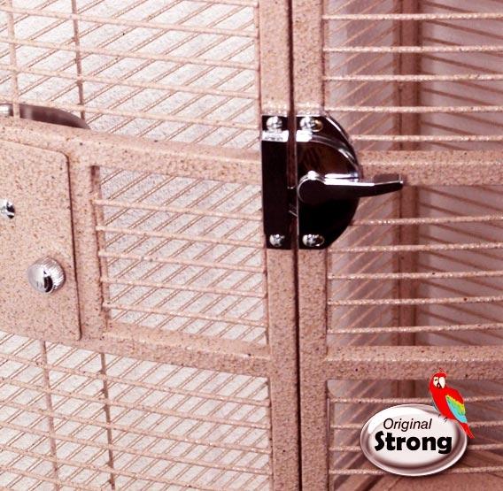 Papegaaienkooi Nadia XL roze| Papegaaien kooi | deurslot