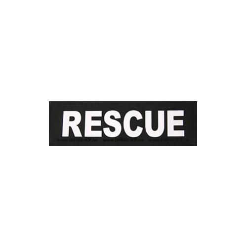 Julius K9 Powertuig | Julius K9 tekstlabel Rescue