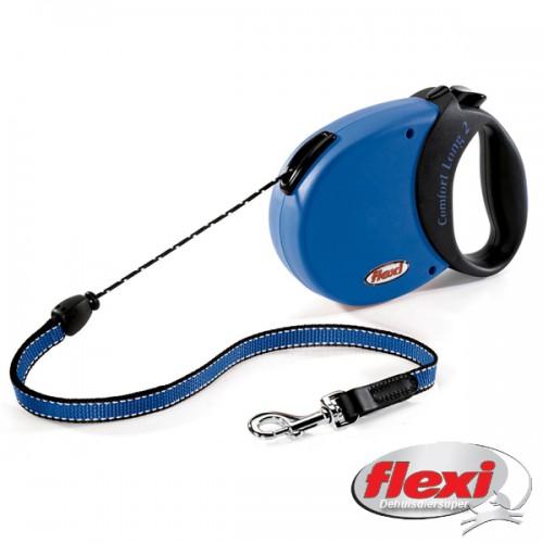 Comfort Long2 8meter voor honden tot 20kg. Blauw