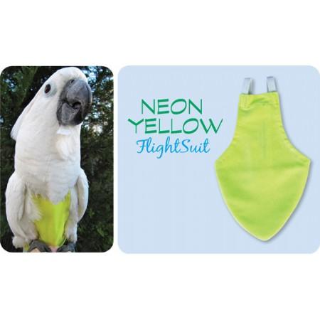 Flightsuit papegaaienluier X-Small Geel | Met handige klittenbandsluiting