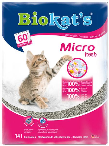 Biokat's Micro Fresh | Extra fijnkorrelig klontvormend grit
