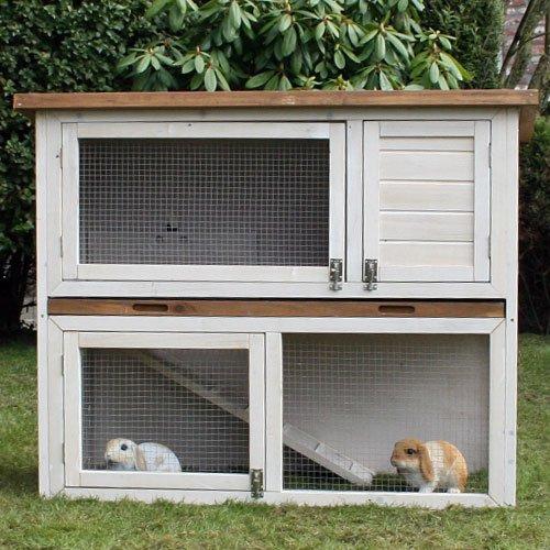 Konijnenhokken | konijnenhok Dena De Luxe Wit