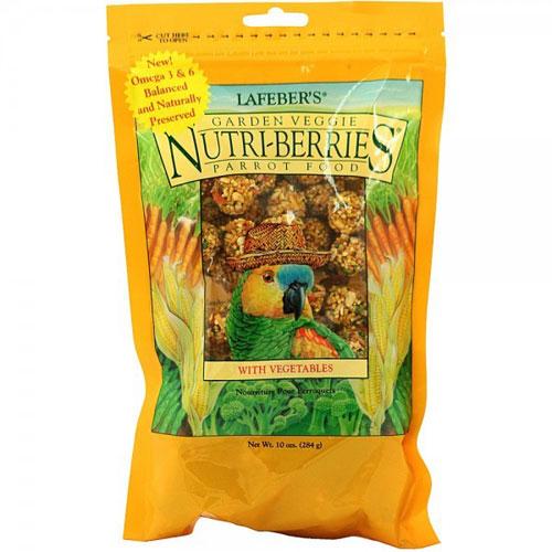 Papegaaiensnacks | Nutri-Berries Garden Veggie Papegaai 284 gram