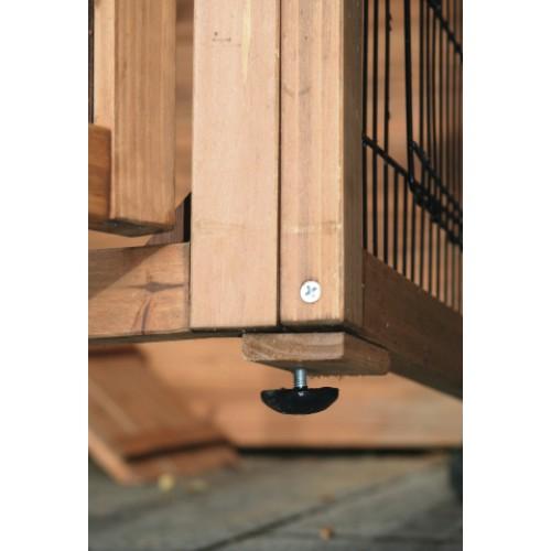 Kippenhokken | Kippenhok Exclusiv 225cm - poot stelschroef