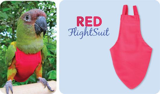 Flightsuit papegaaienluier X-Wide Plus Rood