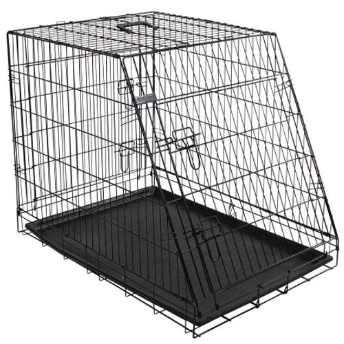 Bench 107 cm. zwart - 2 beveiligde toegangsdeuren