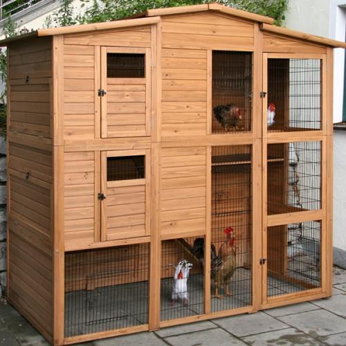 Kippenhokken | Kippenhok Exclusiv 225cm - deuren dicht