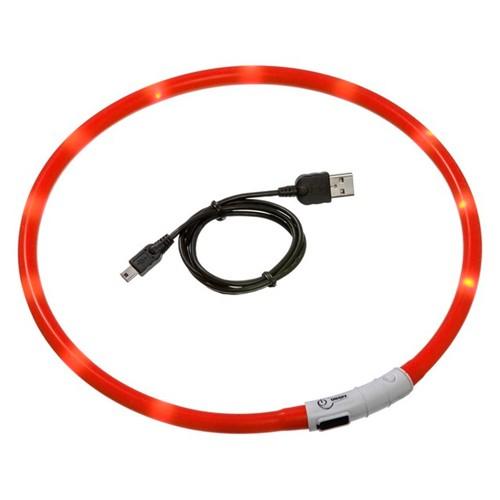 Maxi Safe LED halsband Rood | Met oplaadbare accu via USB kabel