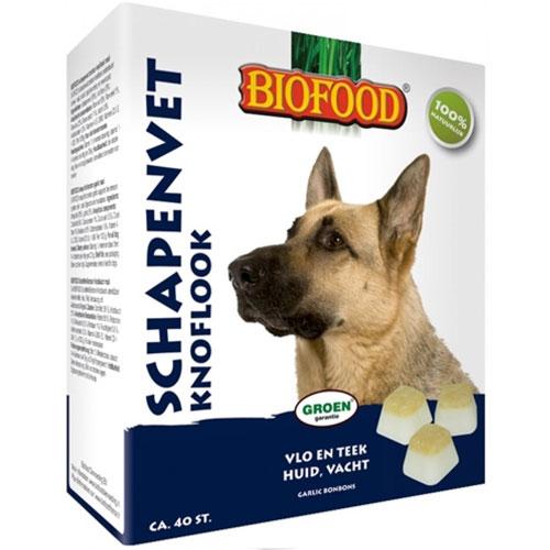 Hondensnacks | Schapenvet bonbons knoflook 250gram