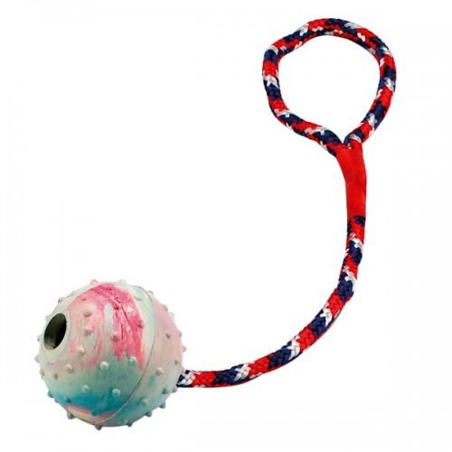 Rubber bal met touw