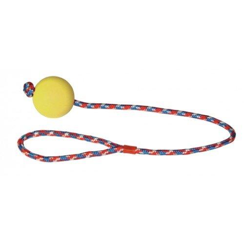 Schuimrubberen bal met touw