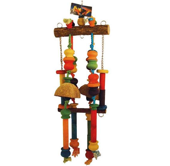 Papegaaienspeelgoed | Hout en touw papegaaien speelgoed