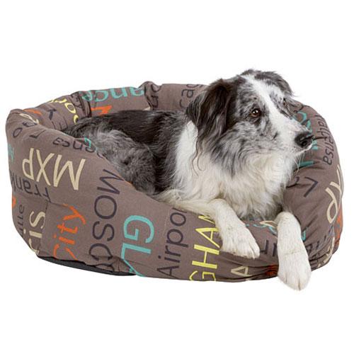 Hondenmand City grijs - met anti-slip coating