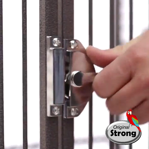 Papegaaienkooi Helios Grijs | Extra veilig deurslot