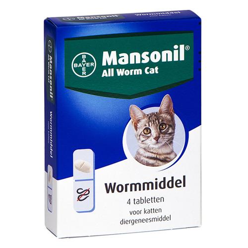 Mansonil All Worm kat 4 tabletten