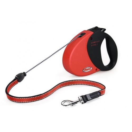 Flexi Comfort Long1 rood 8meter voor honden tot 12kg