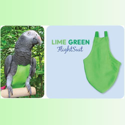 Flightsuit papegaaienluier Small Groen | Met handige klittenbandsluiting