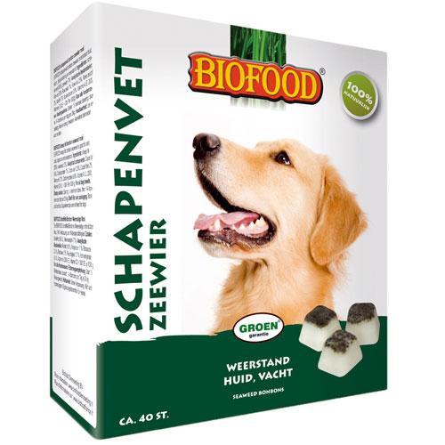 Hondensnacks | Biofood Schapenvet bonbons zeewier 250gram