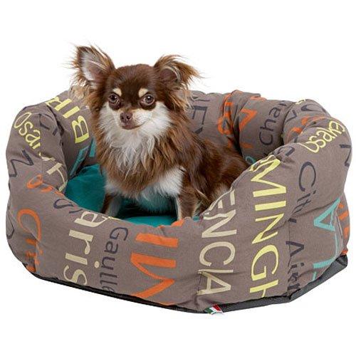 Hondenmand City grijs - 50% katoen, 50% polyester