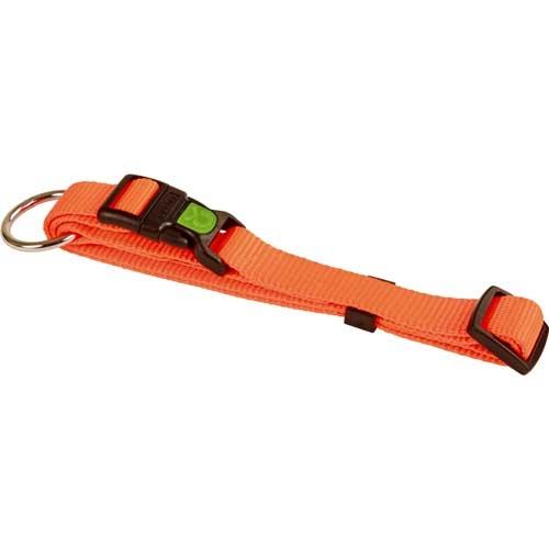 Hondenhalsband Miami oranje met vergrendelschuif