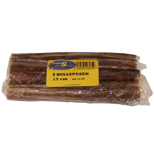 Hondensnacks   Bullepezen 15cm 5stuks