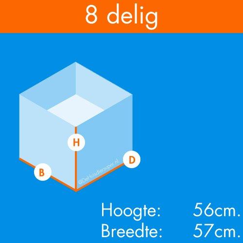 Konijnenrennen | Konijnenren Bobby 8 delig | 8 Panelen 56 x 57cm.