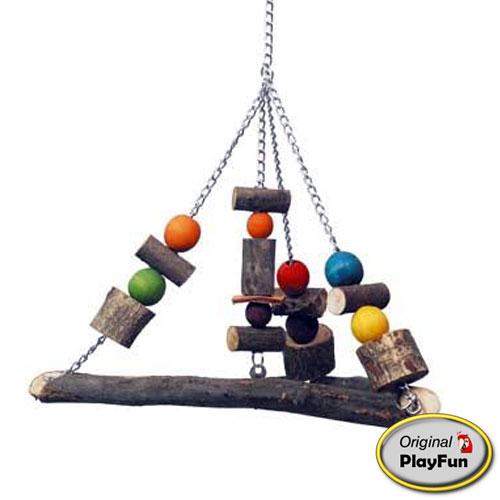 Original Playfun | Houten papegaaienschommel Pyramid XL