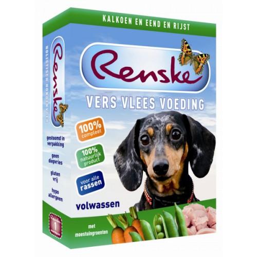 Renske vers vlees kalkoen en eend | 395 gram | Natvoer voor de hond