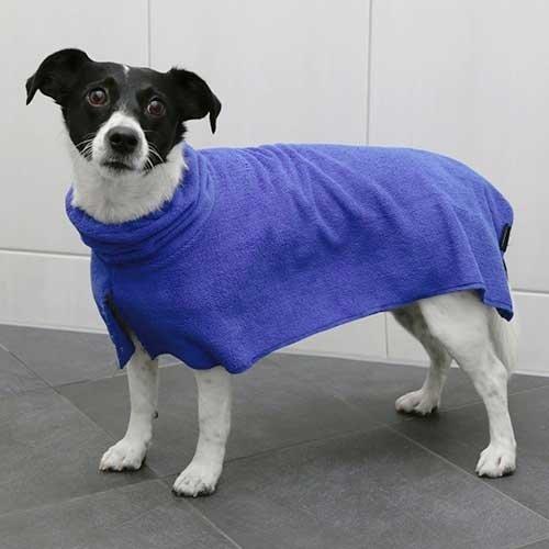 Hondenbadjas Blauw