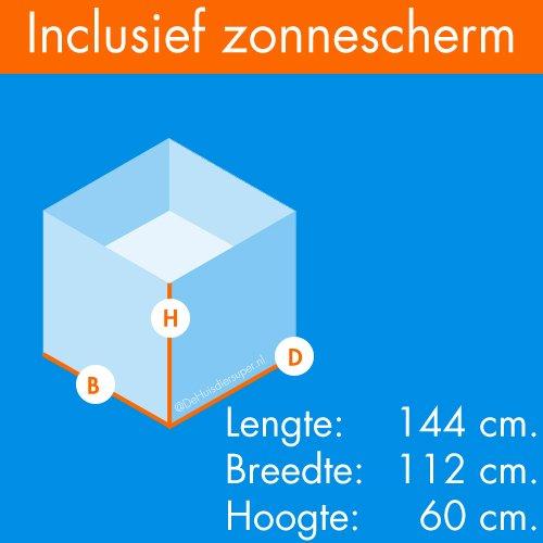 Konijnenrennen | Konijnenren Titho | Afmetingen: 144 x 112 x 60 cm.