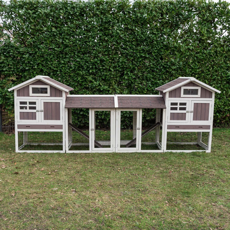 Konijnenhok Amalie Duo met dubbele ren
