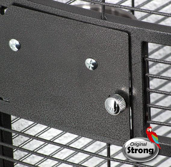 Papegaaienkooi Nadia XL grijs deurslotje