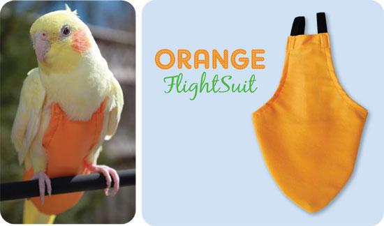 Flightsuit papegaaienluier Medium Oranje | Met handige klittenbandsluiting