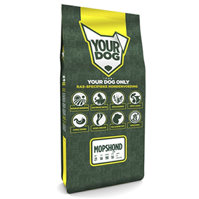 Yourdog Mopshond Pup 12 KG