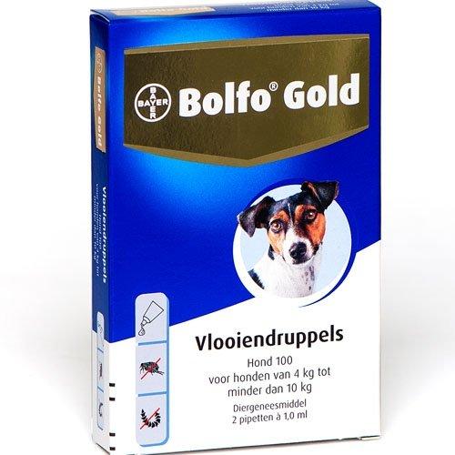 Bayer Bolfo Gold 100 Hond | Beschermt tegen vlooien en vlooienlarven