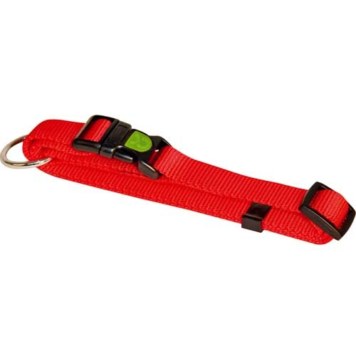 Hondenhalsband Miami rood met vergrendelschuif