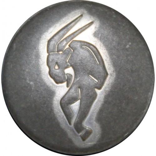 Steenbok mat zilver