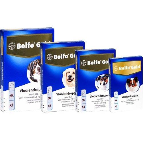 Bayer Bolfo Gold 400 Hond | Beschermt tegen vlooien en vlooienlarven