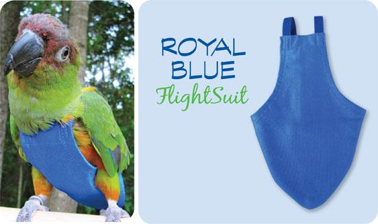 Flightsuit papegaaienluier Medium Blauw | Met handige klittenbandsluiting