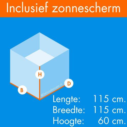 Konijnenrennen | Konijneren Easy | Afmetingen: 115 x 115 x 60 cm.