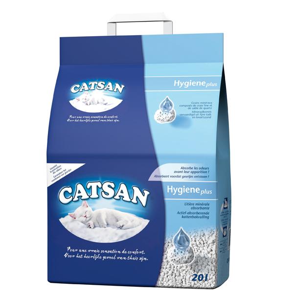 Catsan Hygiëne Plus | Sterk absorberende eigenschappen