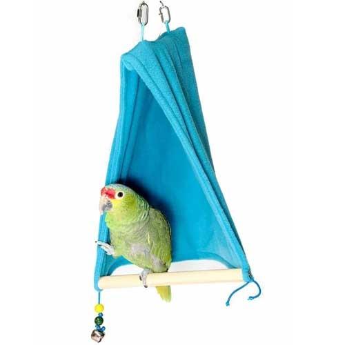Vogel Schuilplaats met zitstok L | Slaaptent voor papegaaien