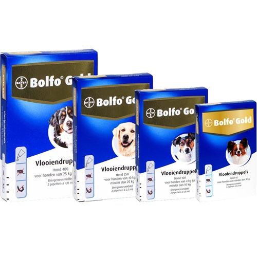 Bayer Bolfo Gold 40 Hond   Beschermt tegen vlooien en vlooienlarven