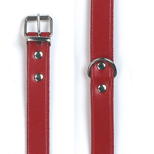 Halsband Mexica type 6 rood 52cm x 20mm