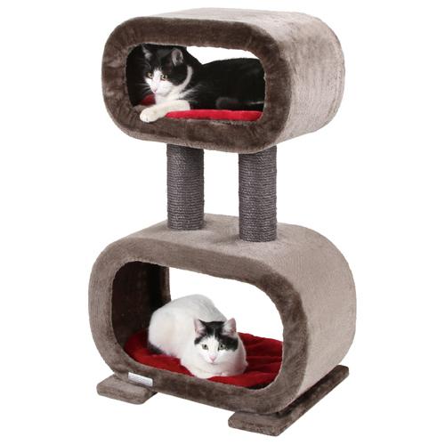 Krabpaal Rubin Grijs-Rood met katten