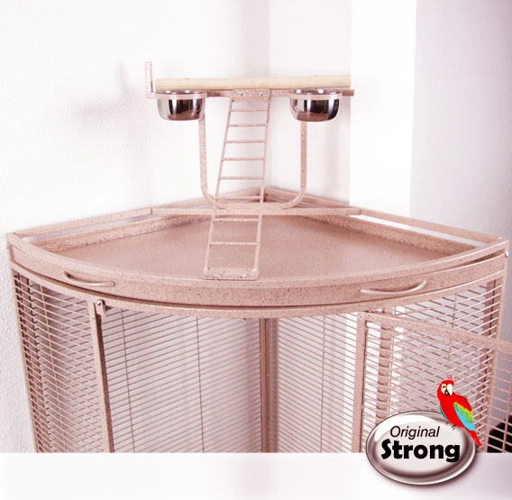 Papegaaienkooi Nadia XL roze | Papegaaien kooi | speelplaats