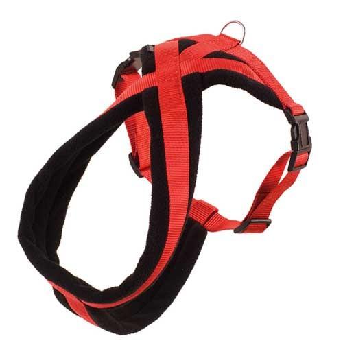Hondentuigje Sportiv Rood Zwart optimaal draagcomfort!