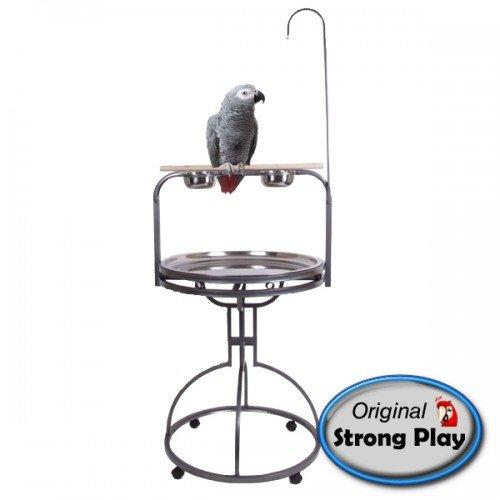 Papegaaienstandaard   Speelstandaard Julia grijs